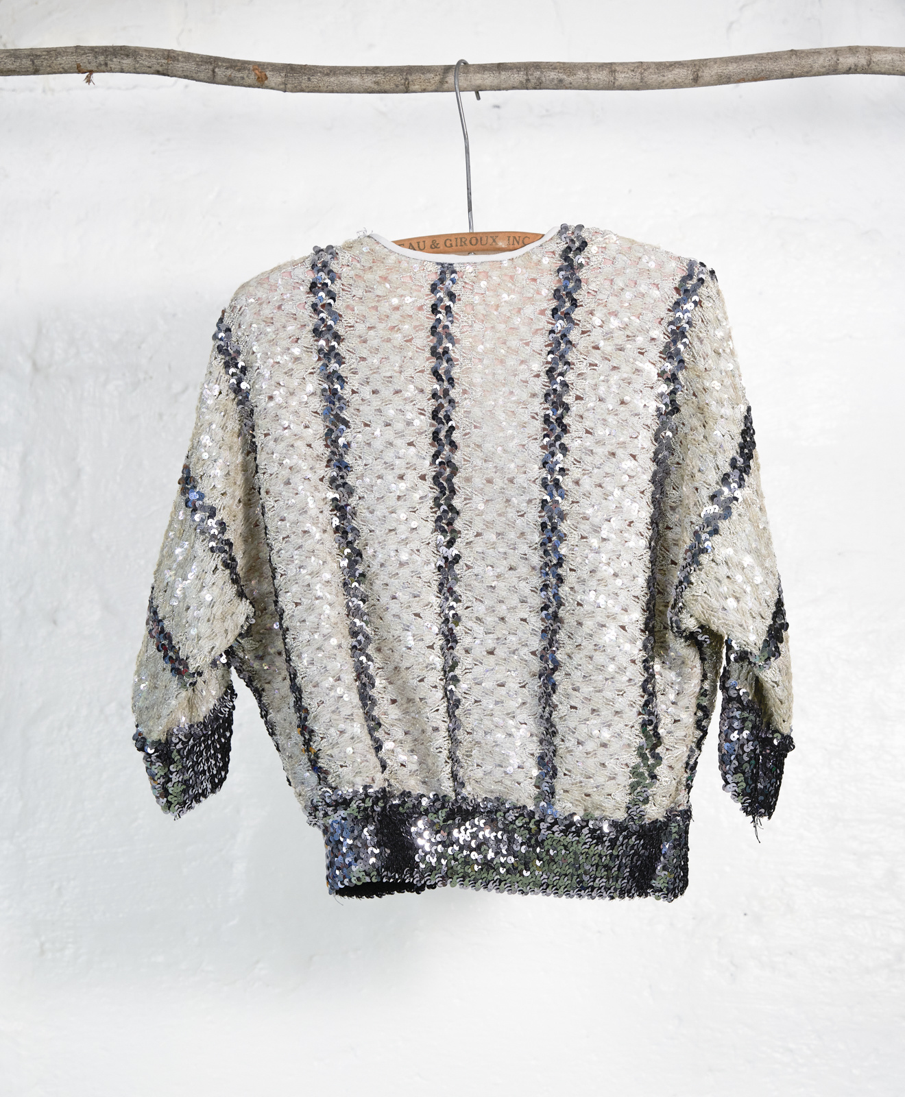Sequined Knit Wrap Top