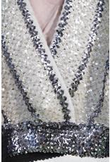 Tricot cache-coeur paillette silver