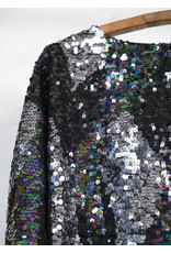 Sequined Top with Jagged Bottom