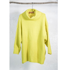 Lime Cowl Neck Sweater