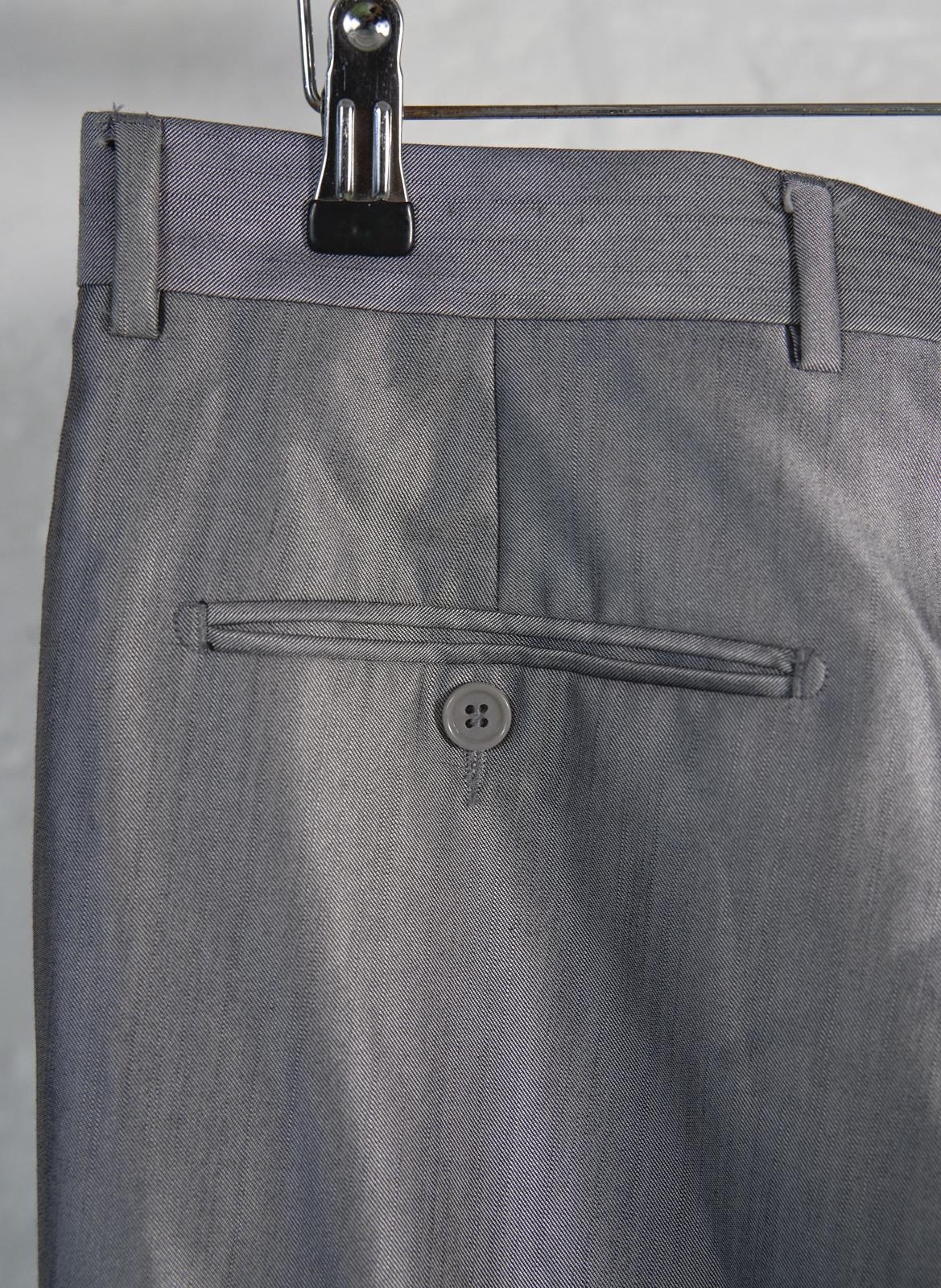 Silver Straight Leg Trousers