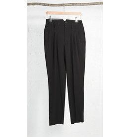 Pantalon BCBG noir taille haute a pli