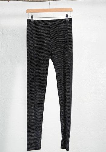 Sparkly Black Velour Leggings