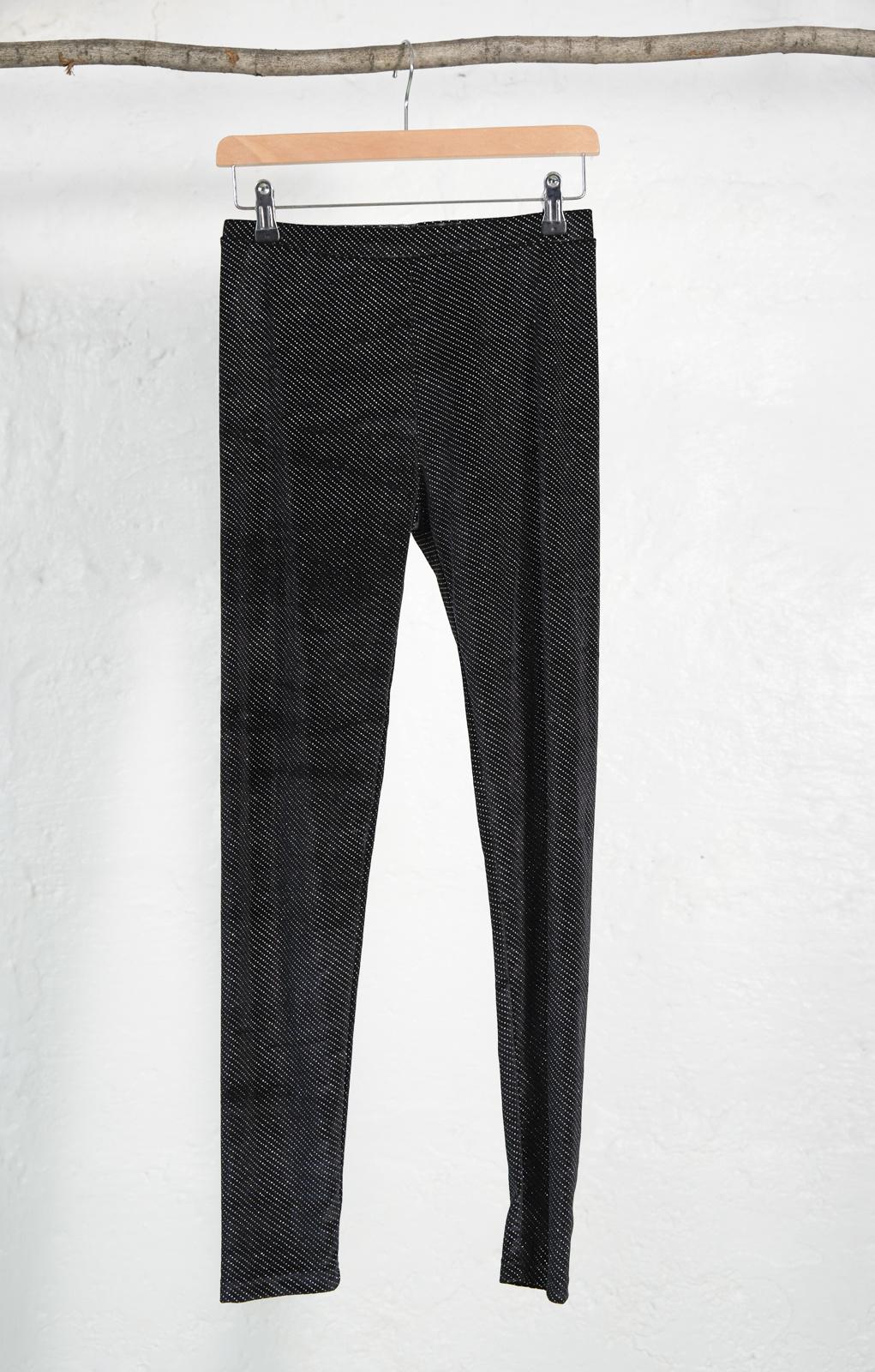 Legging velour noir a brillant