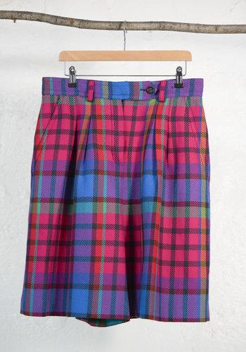 Multi-Coloured Wool Bermuda Shorts