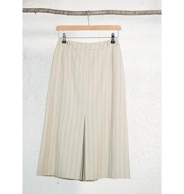 Long Beige Banker Skirt