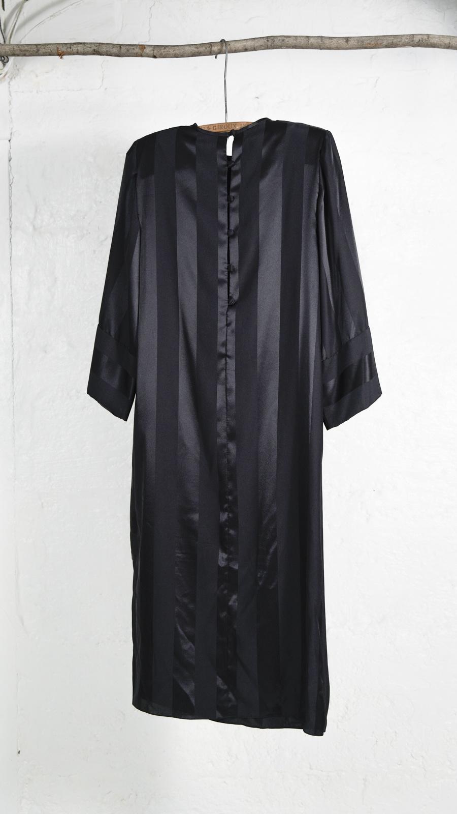 Tone On Tone Black Striped Dress