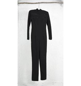 Jumpsuit noir long col roule