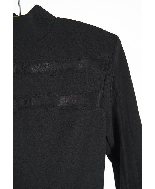 Black Turtleneck LS Jumpsuit