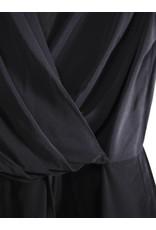 Short Black Wrap Jumpsuit