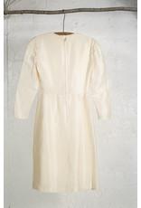 Half-Peplum Wrap Dress Ivory