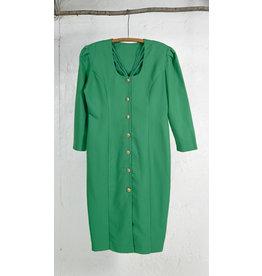 Lime Green Dress Gold Buttons