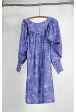 Robe ample bleu clair motif ivoire