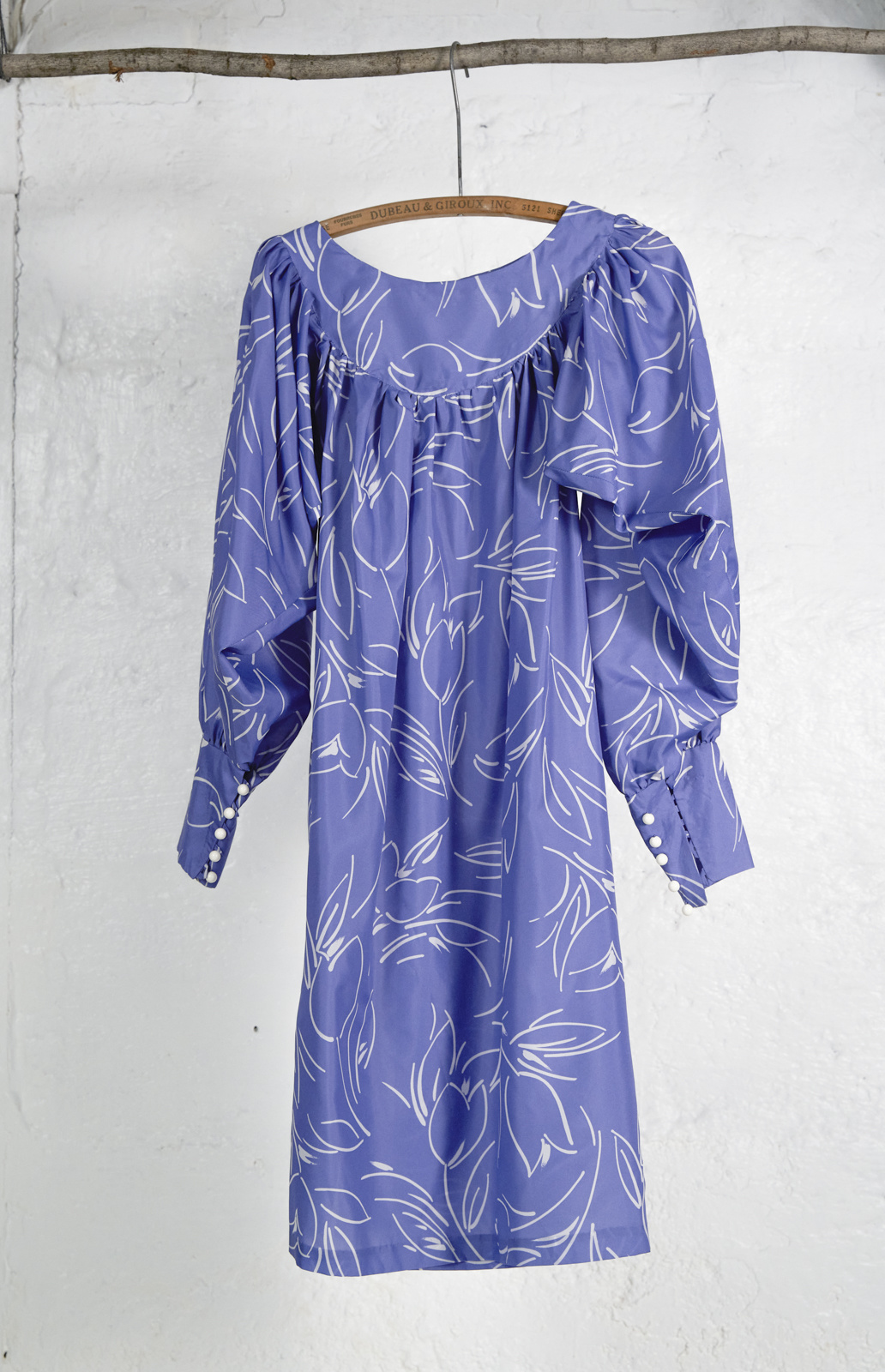 Loose Dress Light Blue Ivory