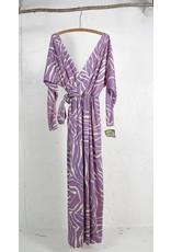 Long Boho Wrap Dress Lilac