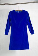 Robe droite velour cobalt