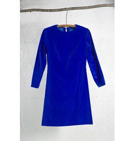 Velour LS  Dress Cobalt
