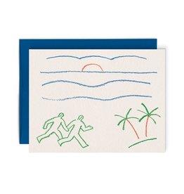 Paperole Carte - Coucher de soleil
