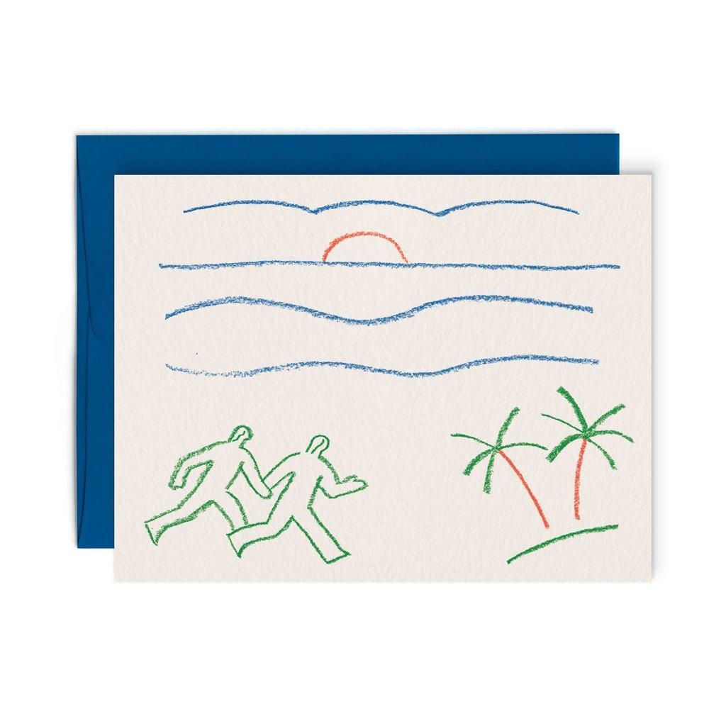 Paperole Sunrise card