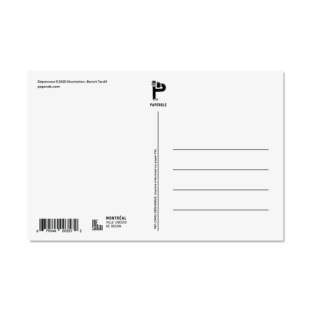 Paperole Postcard Montreal depanneur