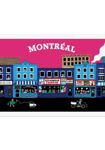 Postcard Montreal depanneur