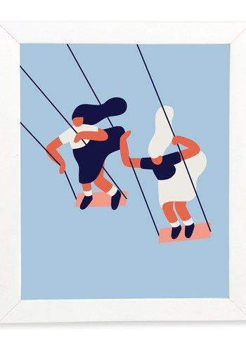 Poster Balancoires 8x10