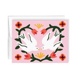 Paperole Tourtereaux card