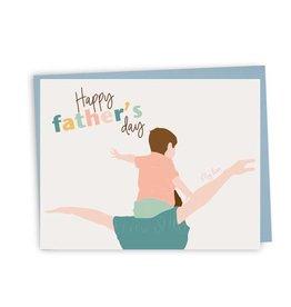 Lili Graffiti Card - Happy father's day