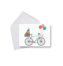 Lili Graffiti Mini card - Birthday bike