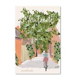 Lili Graffiti Postal card - Montreal ruelle verte