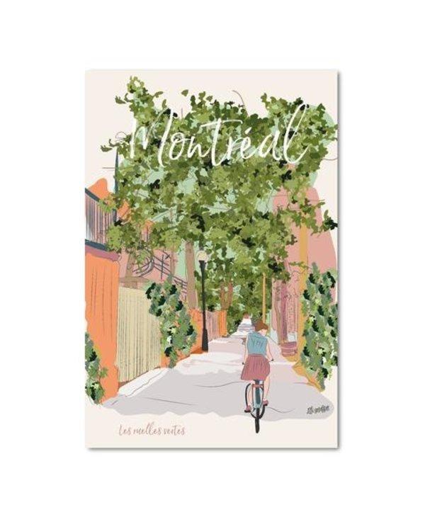 Postal card - Montreal ruelle verte