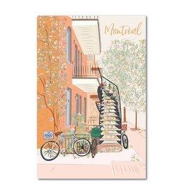 Lili Graffiti Postal Card - Montreal Fall time