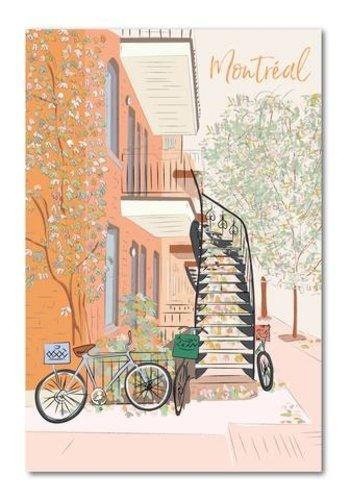 Postal Card - Montreal Fall time