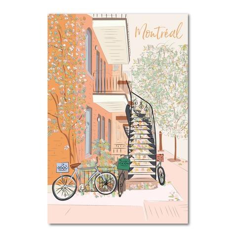 Lili Graffiti Carte Postale - Montreal en automne