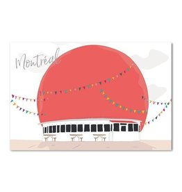 Lili Graffiti Postal Card - Montreal Orange julep