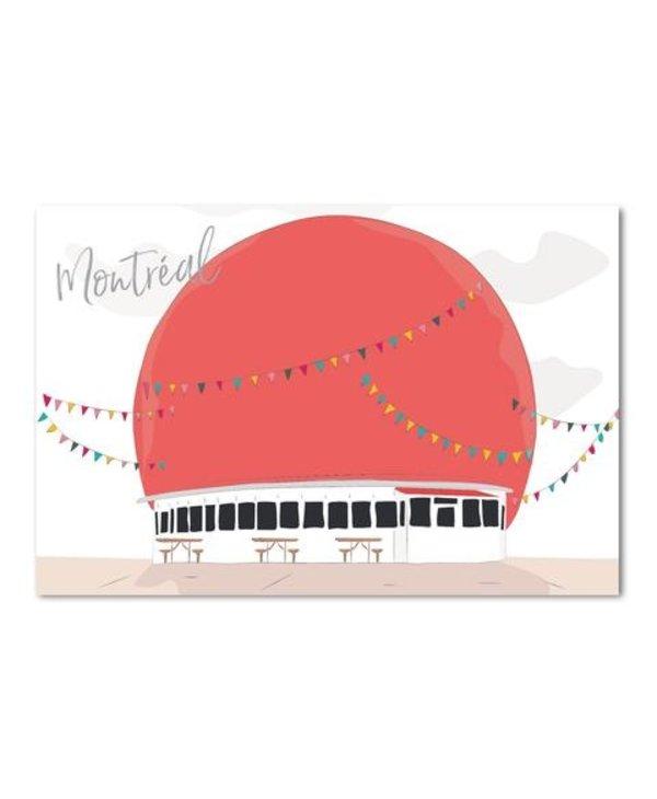 Postal Card - Montreal Orange julep