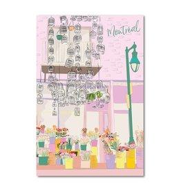 Lili Graffiti Postal Card - Montreal Flower shop