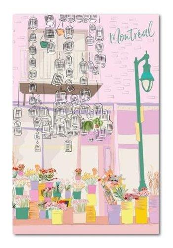 Postal Card - Montreal Flower shop