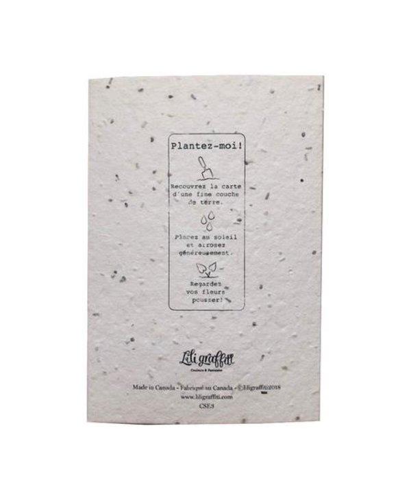 Plantable seed card - Bonne Fête