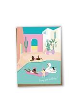Lili Graffiti Card - Enjoy your birthday pool