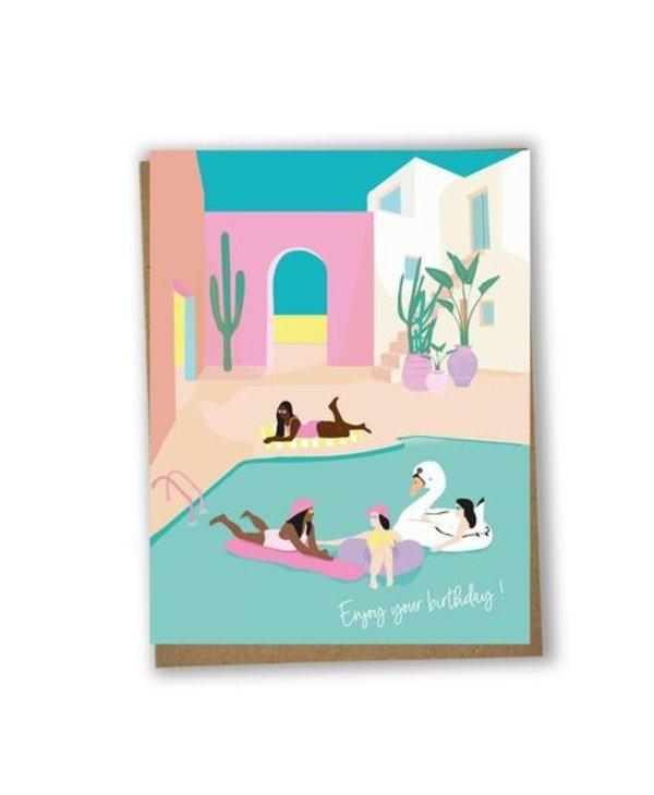 Carte - Enjoy your birthday pool