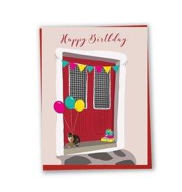Lili Graffiti Card- Happy birthday - Red door