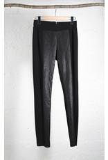 Pleather Panel Pants
