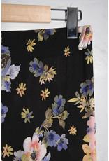 Black Floral Stretch Pants