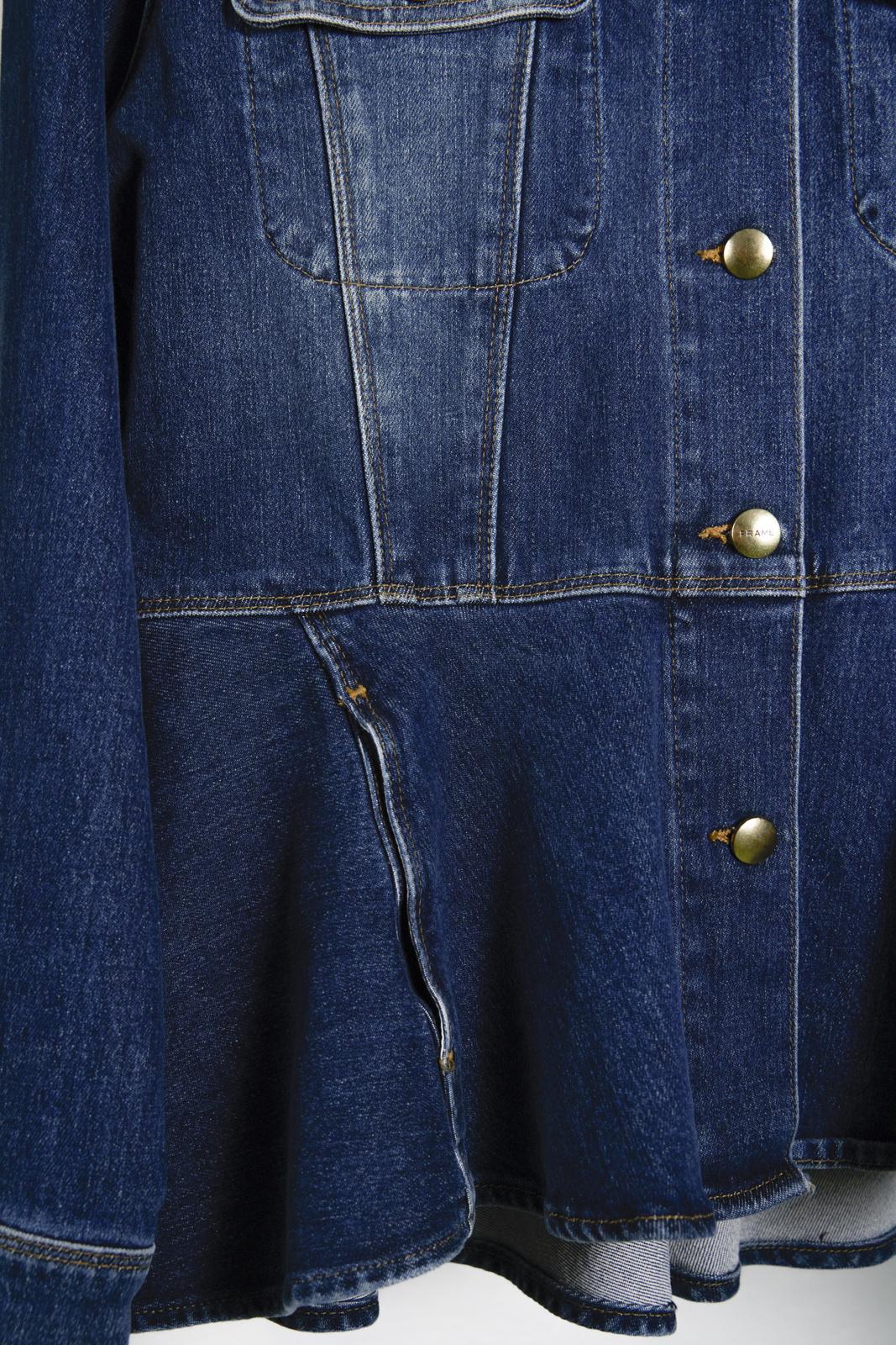 Frame Peplum Jean Jacket