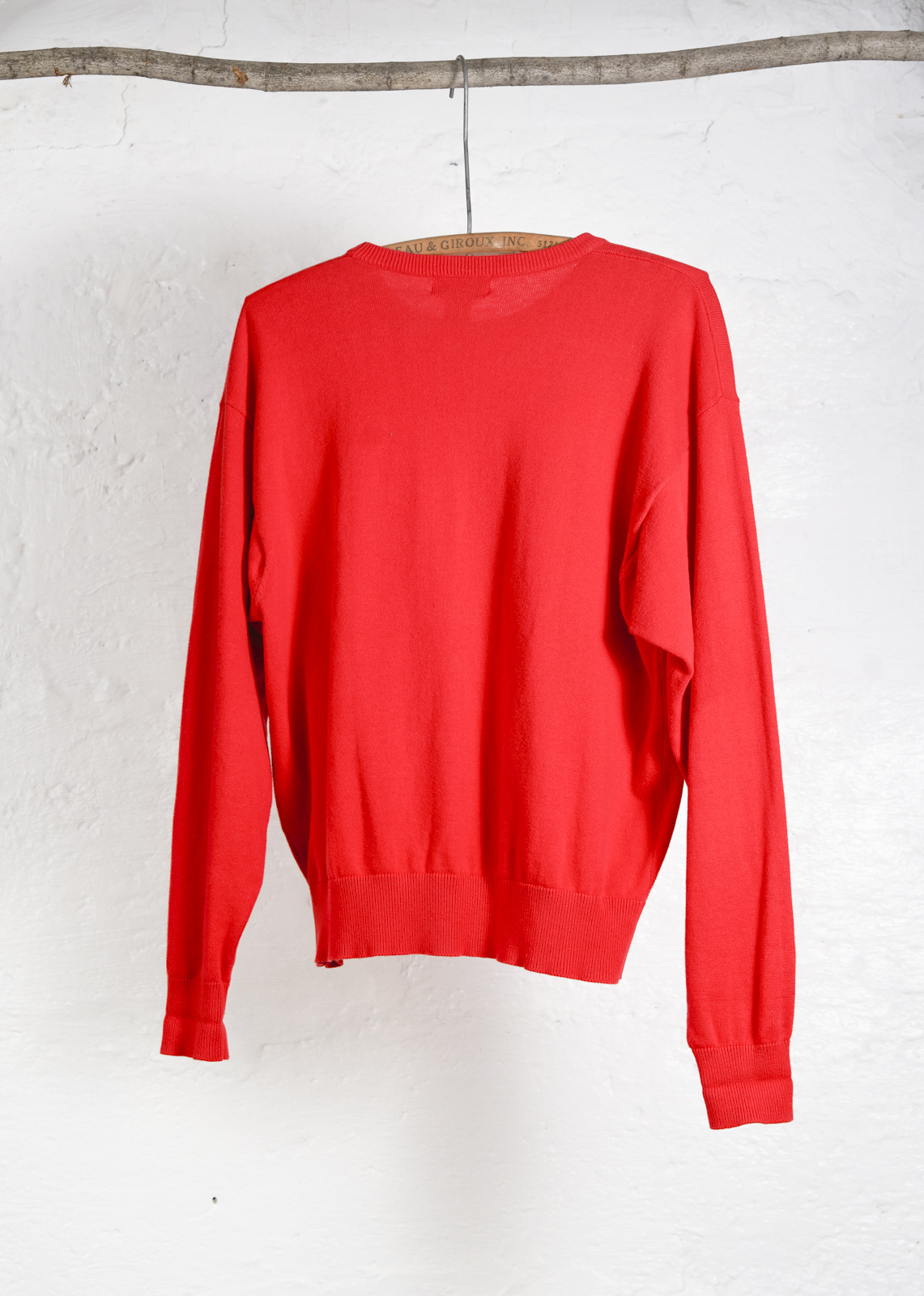 Red Pocket Sweater