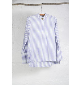 Blue White Stripe Tunic Top