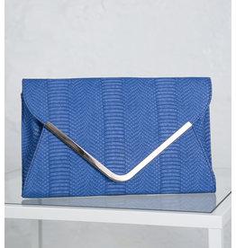 Large Teal Envelope Clutch