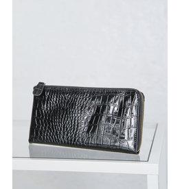 Black Croc Clutch
