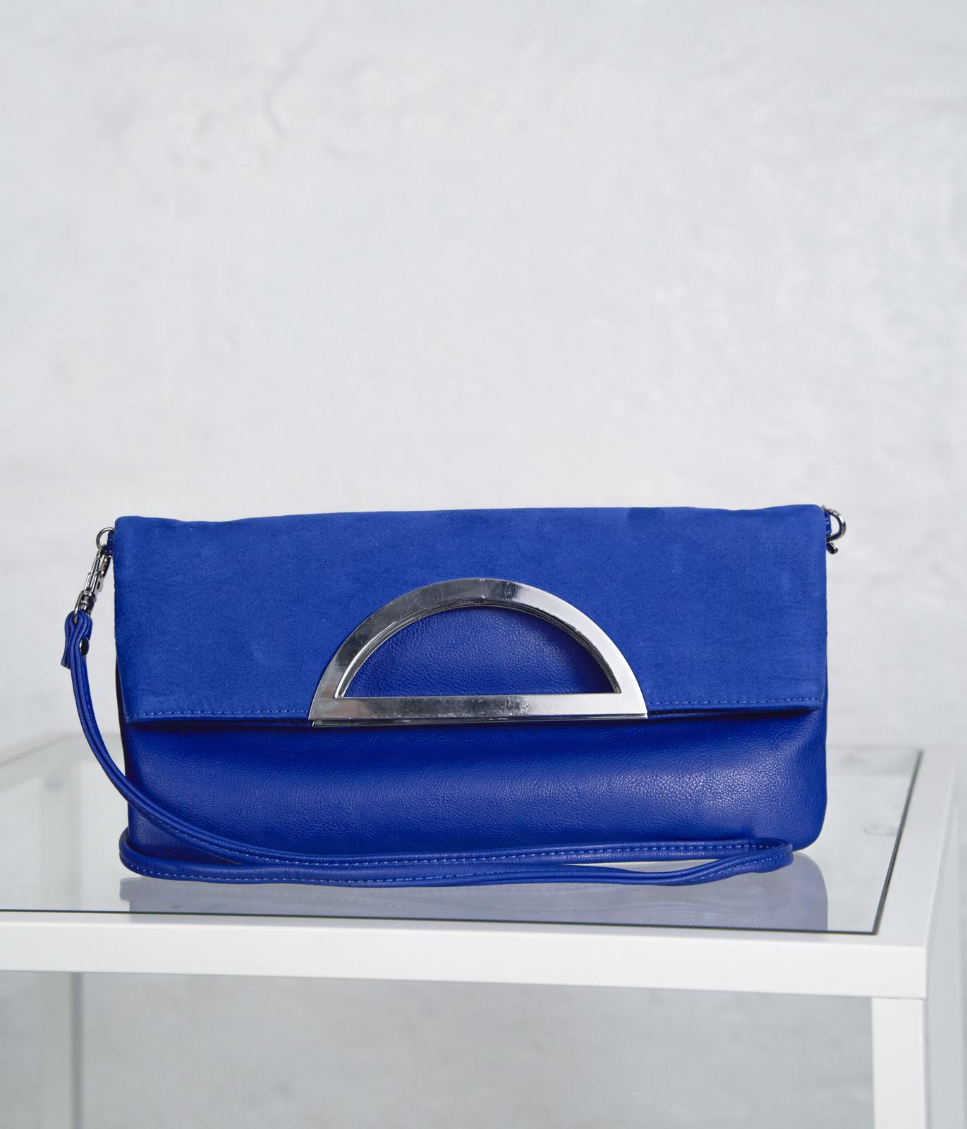 Thin Strap Envelope Bag Cobalt Blue